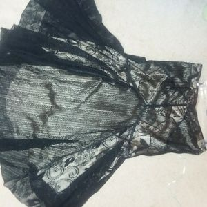 Black lacy skirt. Very very soft
